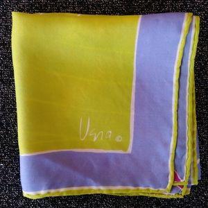 1970s Vera Silk Scarf Mens Pocket Square